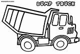 Dump Truck Coloring Pages Dumptruck sketch template
