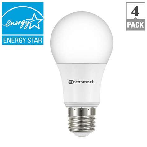 4 led light bulbs ecosmart 60w equivalent soft white a19 energy star