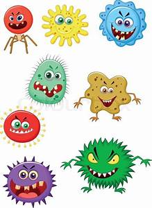 Vector Illustration Of Virus Cartoon Collection Set