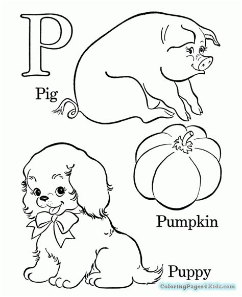 Preschool Coloring Pages Letter P  Coloring Pages For Kids