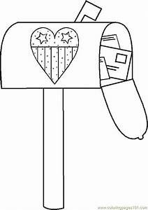 Free coloring pages of mail box