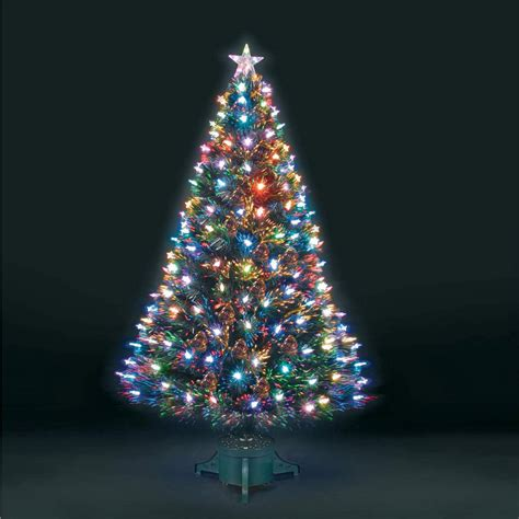 3ft 90cm superstar green fibre optic led christmas tree