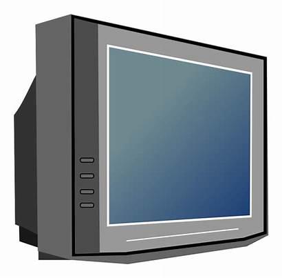 Tv Television Clipart Clip Transparent Cliparts Appliances