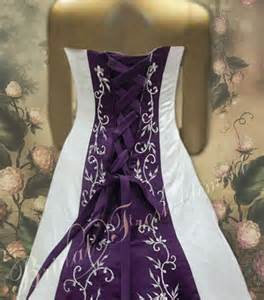 Wedding Dresses with Purple and White