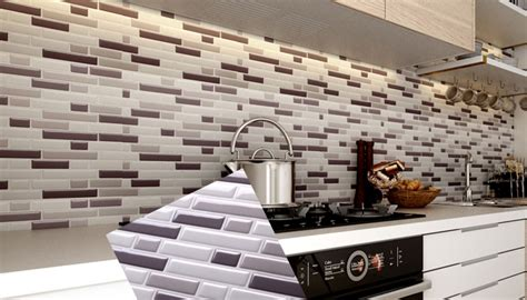 peel  stick tile backsplash  kitchen wall mosaic