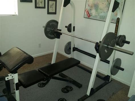 Club Weider 350 Weight Bench With Squat Rack (sports
