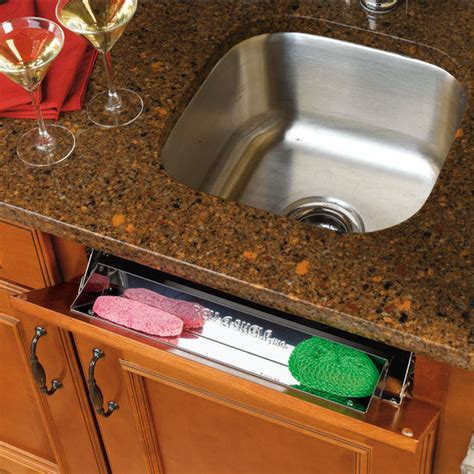 kitchen sink sponge drawer kitchen and vanity sink front tip out stainless steel