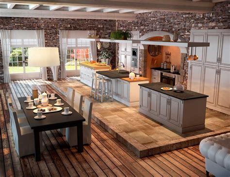 cuisine rustique et moderne aménagement de cuisine les é essentielles travaux com