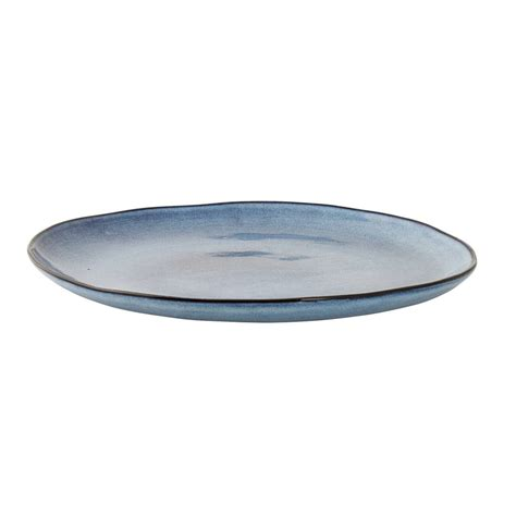 Sandrine Bloomingville by Bloomingville Sandrine Plate Blue Living And Co