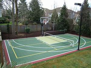 Pickleball (it's a Seattle thing!) and basketball court