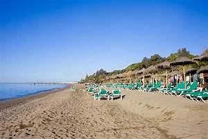 Marbella Strand Auf Costa Del Sol In Spanien Stockfoto