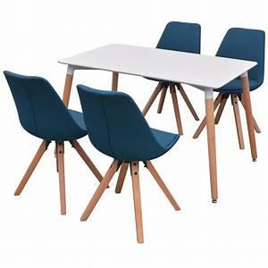 Amazon Tisch Und Stühle : vidaxl 5 teilige essgruppe tisch st hle wei und blau g nstig kaufen ~ Bigdaddyawards.com Haus und Dekorationen