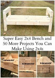 Easiest 2x4 bench plans ever ana white board and for Homemakers furniture project