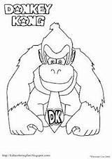 Kong Donkey Coloring Pages Nintendo Mario Birthday Colouring Printable Sheets Games Donkeys Yousaytoo Boy sketch template