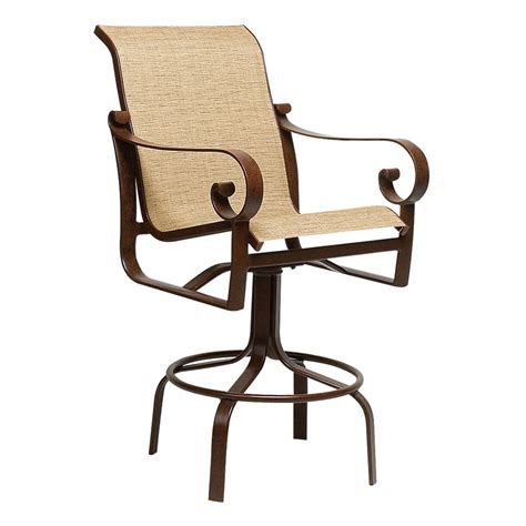 woodard belden sling swivel bar stool 62h468