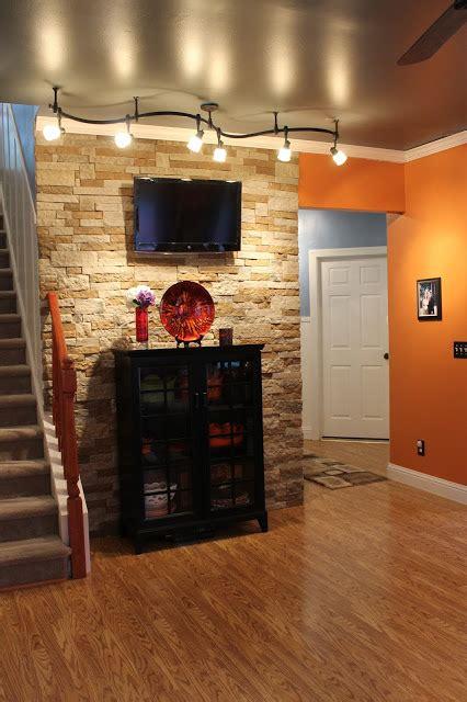 stone accent wall diy hometalk concrete basement tv tile idea airstone decor mountain autumn update masonry impressive ways