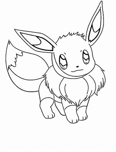 Pokemon Eevee Coloring Pages Printable Simple Evie