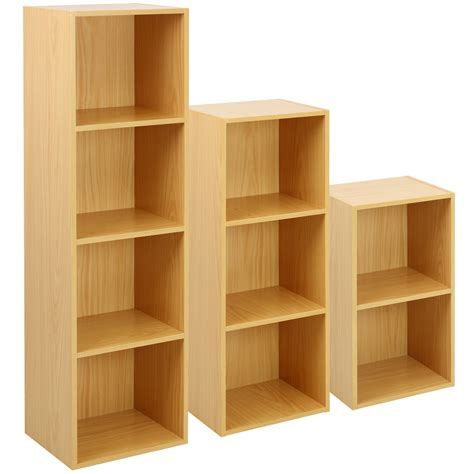 Freestanding Bookcase by Hartleys Beech Freestanding Wooden Bookcase Storage