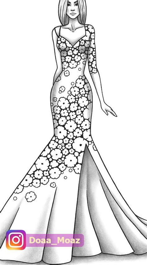adult coloring page fashion  clothes colouring sheet