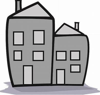 Condo Cartoon Buildings Animation Gray Based Architecture