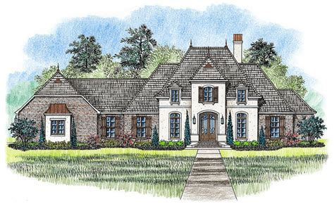 4 Bed French Country Home Plan