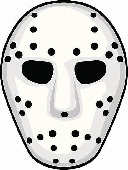 Mask Hockey Vector Clip Goalie Clipart Jason