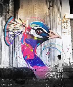 impressive, graffiti, birds, by, a, young, brazilian, artist