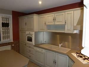 cuisine en chene cuisine equipee blanche meubles rangement With renovation meuble cuisine en chene