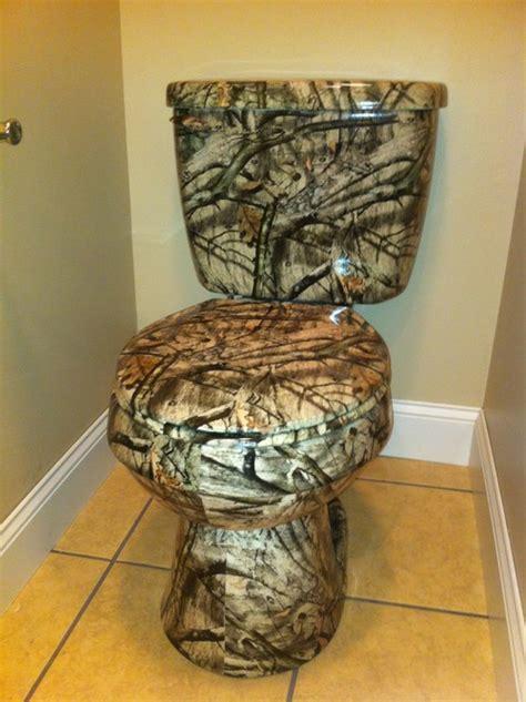 Camo Bathroom Decor Ideas by Custom Toilet