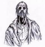 Jason Coloring Voorhees Sketch Kill Template Credit Larger sketch template