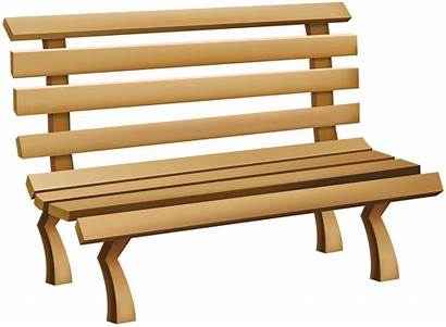 Bench Clip Clipart Transparent Furniture Cliparts Cartoon