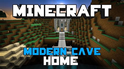 minecraft modern cave home  youtube