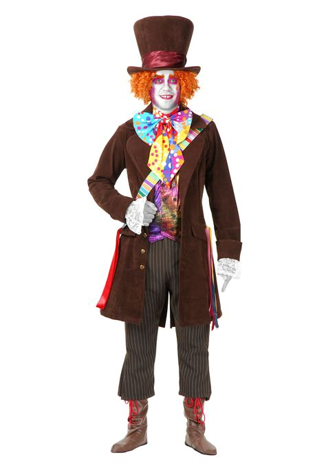 deluxe adult mad hatter  costume mens mad hatter