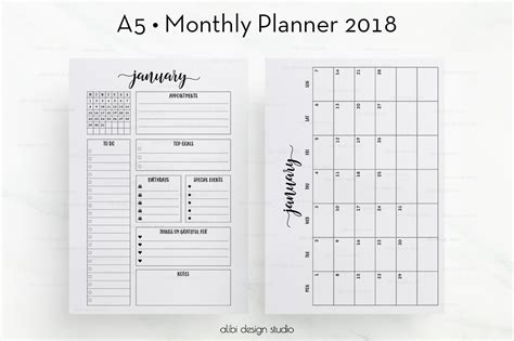august page template calendar design