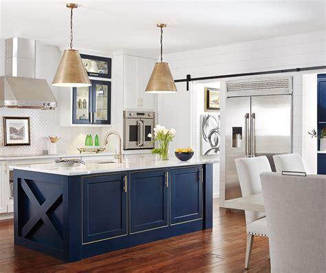 white kitchen  custom blue kitchen island omega