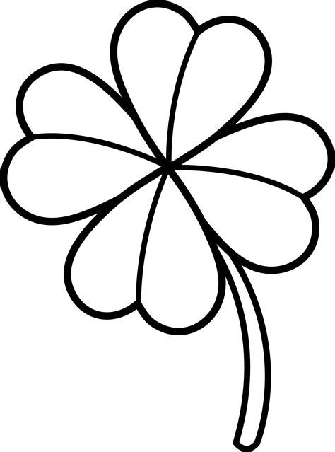 leaf clover coloring pages  coloring pages  kids