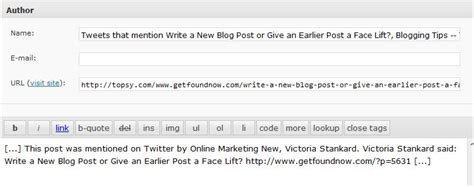 Wordpress Trackbacks And Pingbacks