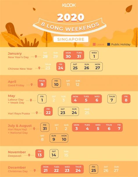 long weekend cheatsheet kiasu singaporean planners