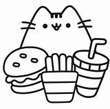 Coloring Pages Pusheen Printables sketch template