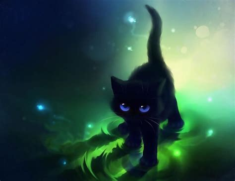 Black Cat Anime Wallpaper - images for gt anime cat wallpapers kittens in 2019