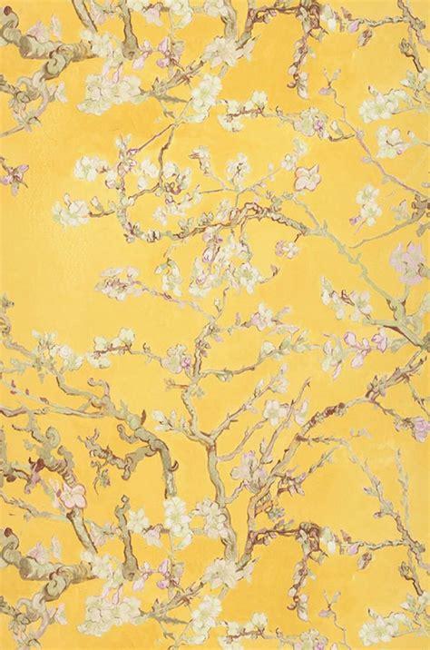 le papier peint jaune papier peint vangogh blossom jaune vert p 226 le brun vert olive violet papier peint des