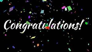 Congratulations with Confetti - YouTube