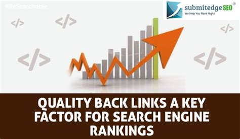 On Search Engine Rankings - quality back links a key factor for search engine rankings
