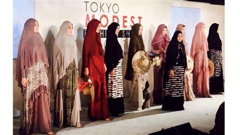jawhara syari rilis  koleksi terbaru  tokyo modest fashion show  tribunnewscom