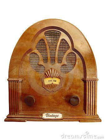 vintage radio royalty  stock images image