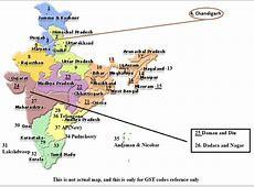 state code wise gst map india GSTSeva GSTINDIA GST