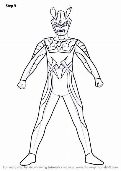 Ultraman Drawing Coloring Zero Draw Learn Pages