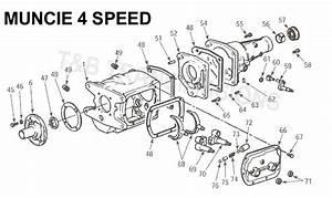 Muncie 4 Speed Transmission Parts