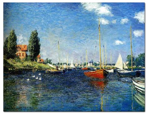 Boat Names With Red by The Red Boats Argenteuil Monet Paintings Famous Art