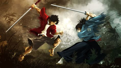 Samurai Anime Wallpaper - jin samurai chloo widescreen wallpapers 24454 baltana